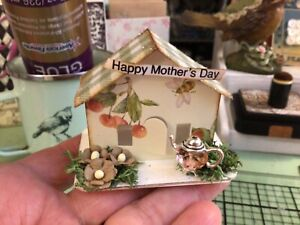 Tim Holtz Paper Village MINIATURE PAPER HOUSE Putz-Like 'Happy Mother's Day' #3