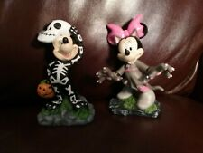 Disney SKELETON MICKEY-WEREWOLF MINNIE Mouse FIGURES Halloween statue decor NEW!