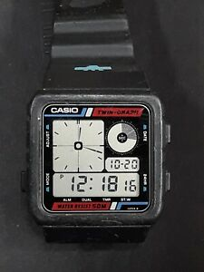 Vintage Casio Twin Graph AE-20W Digital Wrist Watch 1980s Working