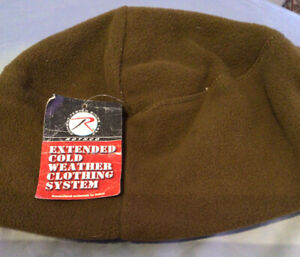 NEW USMC Rothco  Fleece Cap Beanie Hat Coyote Brown Cold Weather Polyester