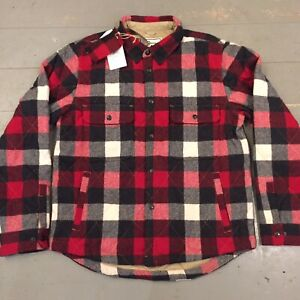 Woolrich shirt jacket quilted lined new with tags Medium RRP $295