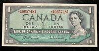 1954 $1 BANK OF CANADA REPLACEMENT *B/M - VERY FINE+ Cond