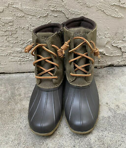 Sperry Top Sider Rain Duck Rubber Boots Size 9.5M NWOB