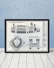 Busch Stadium Blueprint St Louis Architecture Cardinals Baseball Wall Gift Decor