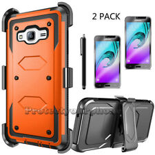 Shockproof Rugged Hybrid Case Cover Belt Clip Holster For Samsung Galaxy J3 2016