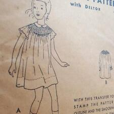 1931 Butterick 16127 Girls Frock Transfer Sewing Pattern Size 8 - 26 Inch Breast