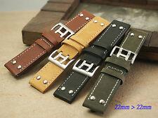 Genuine Leather band bracelet strap (fits) Hamilton X-WIND AVIATION QNE