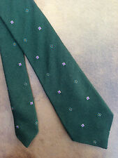 "PAUL SMITH ""THE BRITISH COLLECTION FOREST GREEN WOOL/SILK BLEND TIE"