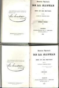 Nouveau spectacle de la nature 2 LIVRES Reptiles +Botanique Pitois-levrault 1840