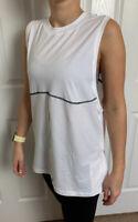 Lululemon Size 6 LA All Yours Muscle Tank White WHT Pima Cotton Speed Layer Yoga
