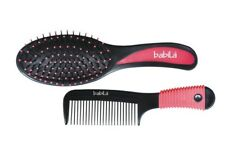 Babila Cushioned Brush With Comb Easy To Grip Beauty Tool