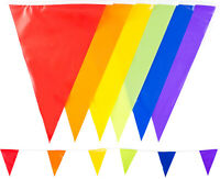 33 Feet 10m Bunting Multi Colours 20 Flags Festival Garden Outdoor Wedding UK