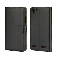 For Lenovo Vibe K5 Genuine Leather Wallet Case Cover
