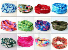 5 pc Bandana Scarf Bikers Bike Riding Neck Face Mask Tube Headgear Bands