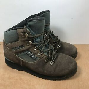 Merrell Nova GTX 2 Hiking Boot Gore-Tex Vintage Brown Leather Green Women Size 8
