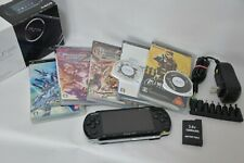 PSP-3000 Console PlayStation Portable JP Black lot of 5games Metal Gear Solid