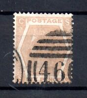 GB QV 6d pale buff SG123 Plate 11 fine used WS17640