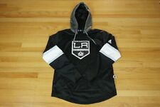 Adidas Los Angeles LA Kings NHL Hockey Jersey Pullover Hoodie Black Mens Size M