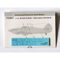 Foxbot 48-033 Decal Technical Labels On Hawker Hurricane For Scale Models 1/48