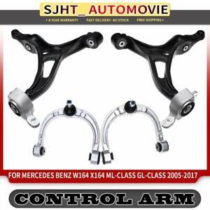 4x Front Control Arm w/ Bushing for Mercedes Benz X164 GL350 GL450 W164 ML350
