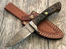 "ASH dh676 Damascus steel custom handmade hunting knife 8"""