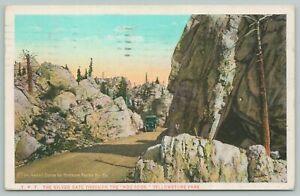 Yellowstone Park Wyoming~Hoo Doos Silver Gate~1920s Postcard