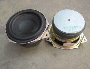"2pcs 4""inch 4Ω 30W Woofer Bass speaker loudspeaker Large magnetic Audio Parts"