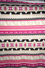 Hacchi Sweater Knit Jersey Tribal Pattern Pink and Black  Apparel  Bfab
