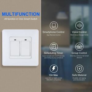 WiFi Smart Switch Light Dimmer For Alexa Google Assistant IFTTT Remote Control
