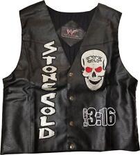 Stone Cold Steve Austin 3 16 Smoking Skull Vest WWF WWE L