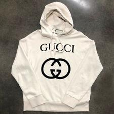 Gucci Men's Interlocking G Logo Hoodie Cotton Sweatshirt Size S + Receipt