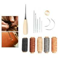 14PCS Leather Tent Sewing Awl Hand Stitcher Leather Craft Needle Kit Tool Fix UK