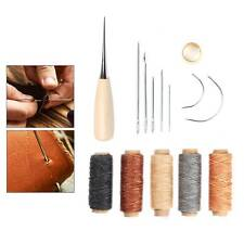14PCS Leather Tent Sewing Awl Hand Stitcher Leather Craft Needle Kit Tool Fix UK