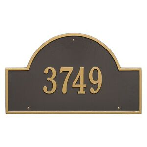 Whitehall Products Arch Marker House Plaque Address Number Estate Size wall