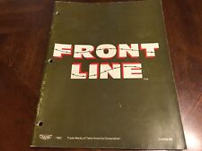"""Original Taito """"Front Line"""" Coin-Op Arcade Video Game Manual 1982 72-00034-001"""