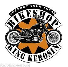 King queroseno bikeshop Pegatina Sticker Chopper rythm Bobber Biker moto