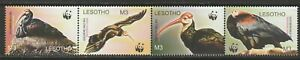 Lesotho 2004 Endangered Species Bald Ibis Set and Sheet UM