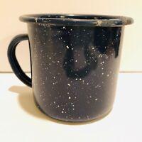 Vintage Enamelware Coffee Mug Cup Blue Graniteware