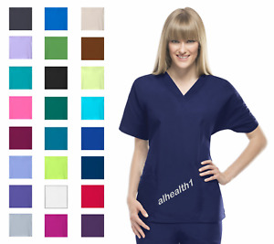 Cherokee Workwear Style 4700 V-Neck Women's Nurse Scrub Top  ~NEW~ Free Shipping