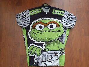 Rare 2005 Pearl Izumi Mens Oscar The Grouch Sesame Street Cycling Jersey -Medium