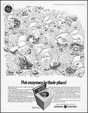 1969 Germs Gremlins art laundry General Electric washer retro print Ad  adL22