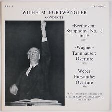 FURTWANGLER: Conducts Beethoven, Wagner, Weber RECITAL Records LP NM-