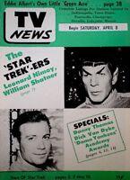 TV Guide 1967 Star Trek Spock Nimoy Kirk Shatner Regional EX/NM COA Rare