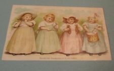 Estey Piano Organ Co. 4 Girls Playing Musical Instruments Victorian Trade Card