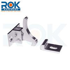 Extra Heavy Duty Elbow Latch Cabinet Door / Window Catch - Nickel, with screws