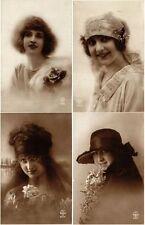 A. NOYER PARIS, GLAMOUR LADIES 65 REAL PHOTOVintage Postcards pre-1940
