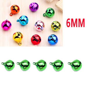 5Pcs 6mm universal Automotive Interior Pendants Metal Jingle Bells green 1234