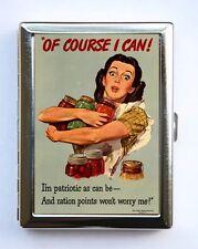 World War 2 Poster Food Ration Cigarette Case Wallet Business Card Holder
