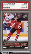 2013 Upper Deck #208 Damien Brunner New Jersey Devils Rookie RC PSA 10 GEM MINT