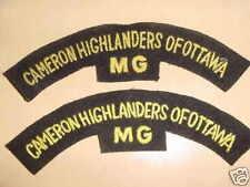 CAMERON HIGHLANDERS OF OF OTTAWA MG CANADA CLOTH TITLES